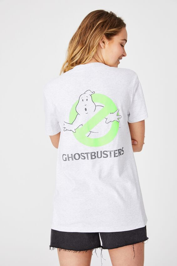 Classic Tv Movie T Shirt, LCN SON GHOSTBUSTERS POSTER SLIME/SILVER MARLE
