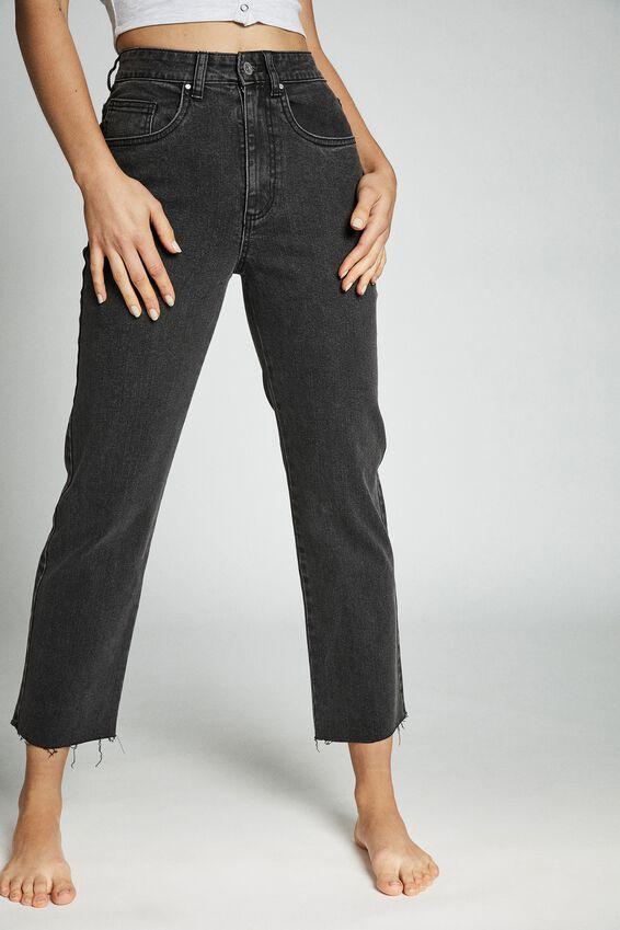 Straight Stretch Jean, STONEWASH BLACK