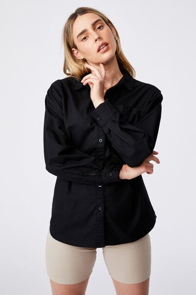 Preppy Shirt, BLACK
