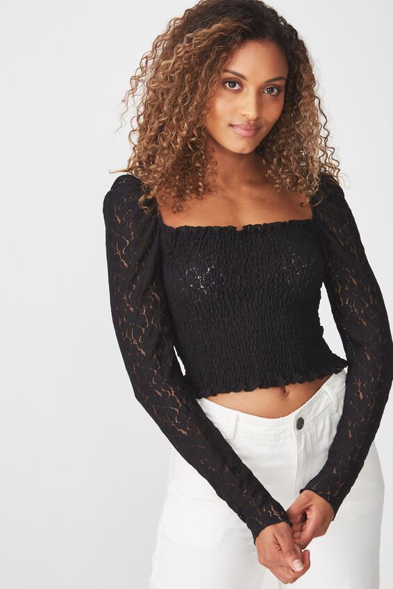 Eden Long Sleeve Lace Top at Cotton On in Brisbane, QLD | Tuggl