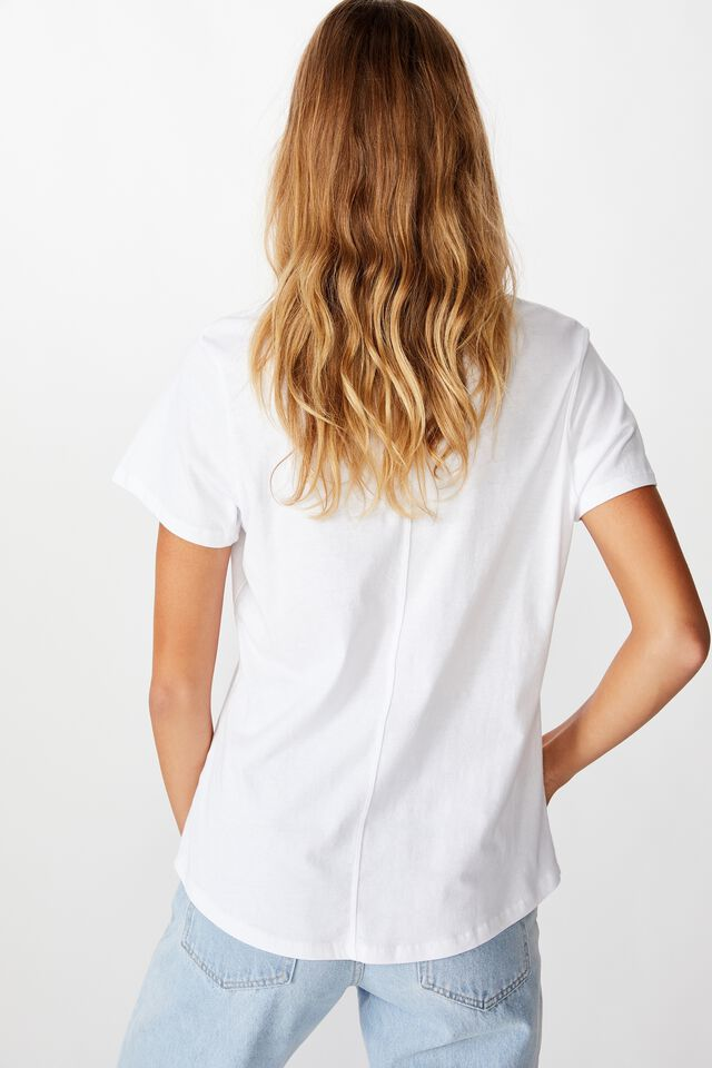 The One Fitted V Tee, WHITE