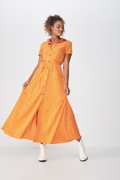 Woven Bernie Button Through Maxi Dress, JESSIE DITSY EXUBERANCE