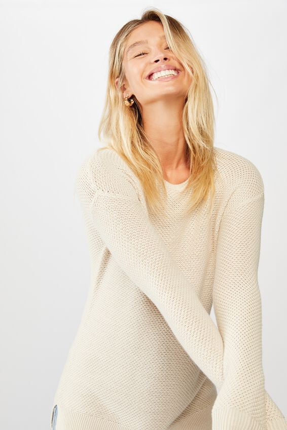 Archy Pullover, OATMEAL MARLE