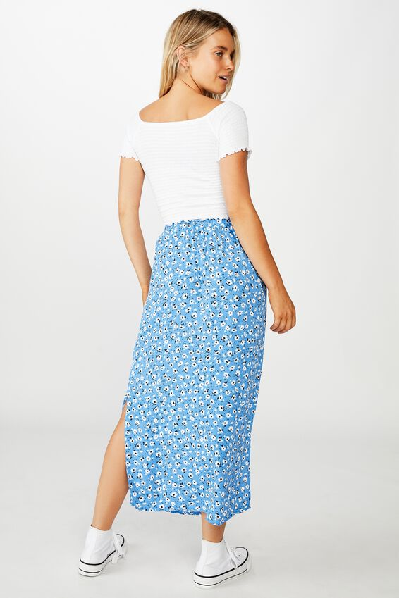 90S Slip Skirt, CHLOE DAISY REGATTA BLUE