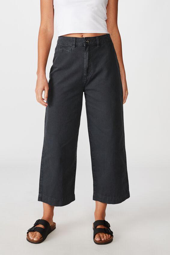 Crop Pant, WASHED BLACK