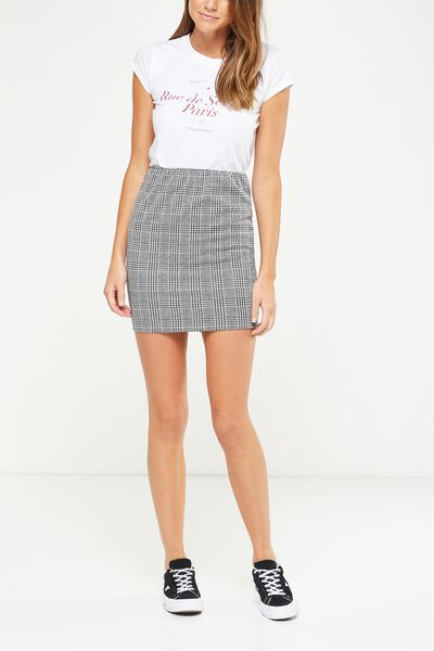 Poppy Pull On Mini Skirt, POPPY CHECK