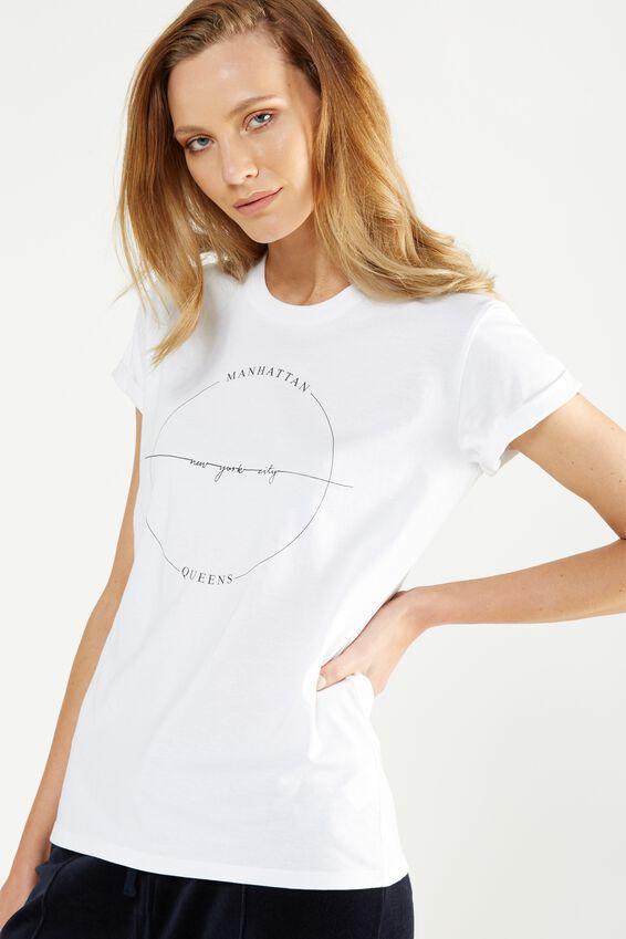 Cotton On Tbar Fox Graphic T-Shirt in Manhattan