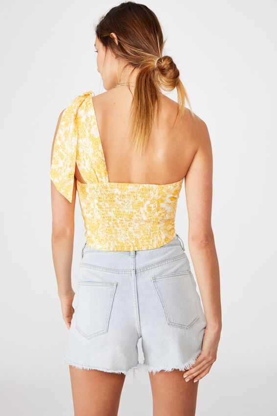 Party Time One Shoulder Top, JULIA FLORAL MANGO
