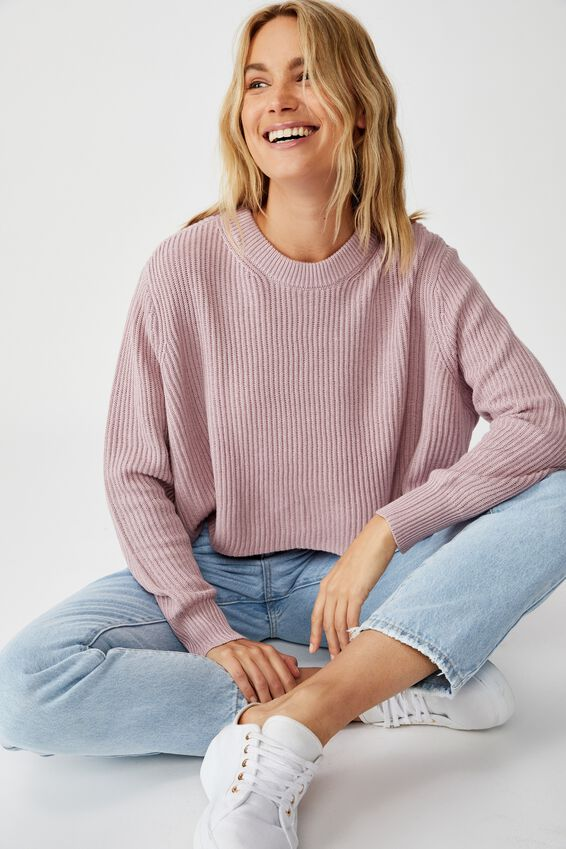 Archy Cropped 2 Pullover, KEEPSAKE LILAC