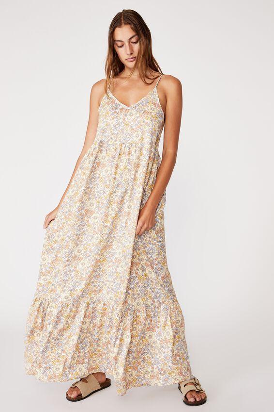 Woven Bella Strappy Maxi Dress, NIKITA FLORAL WHITE