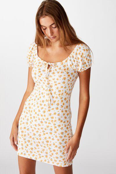 Izabel Prairie Mini Dress, CHLOE DAISY WHITE