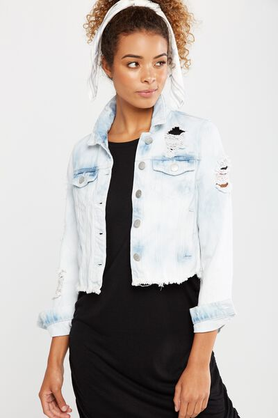 Girlfriend Denim Jacket, BEYOND BLEACH