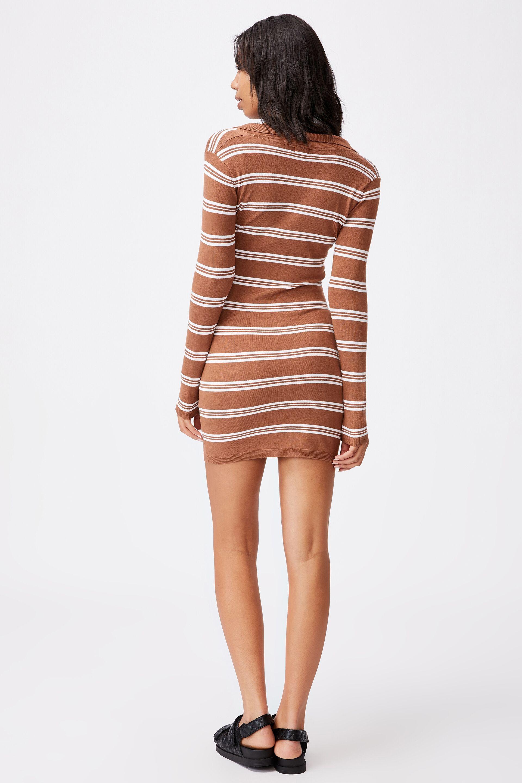 Nicola Knit Polo Mini Dress   Cotton On