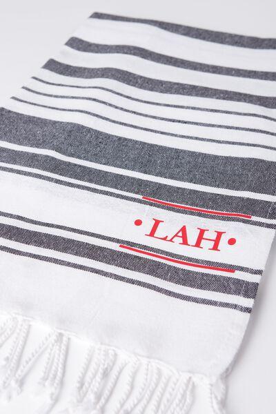 Tolve Turkish Towel, BLACK & WHITE