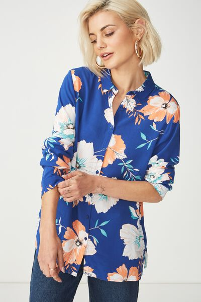 Rebecca Shirt, RENEE FLORAL SURF THE WEB
