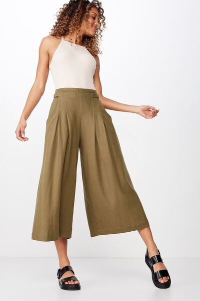 Luna Button Culotte, WINTER MOSS