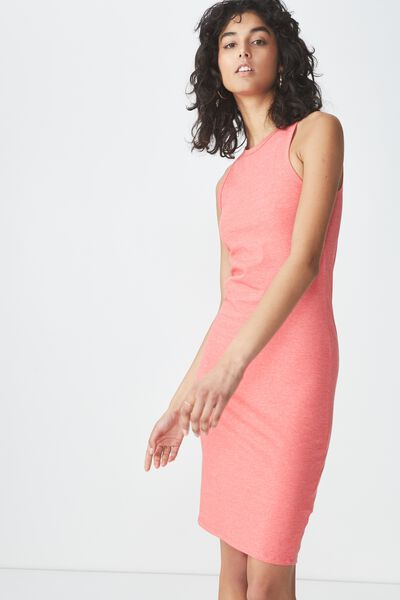 Lena Midi Dress, ROSE PETAL MARLE
