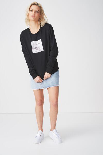 Ferguson Graphic Crew Sweatshirt, LOS ANGELES/BLACK
