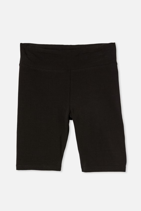 High Waisted Dylan Bike Short, BLACK