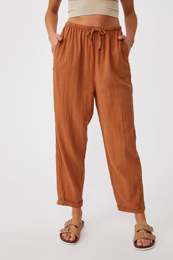 Cali Pull On Pant, WARM BRONZE