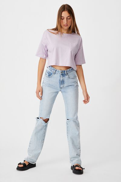 The Slouch Pocket Tee, SOFT FROSTY LILAC