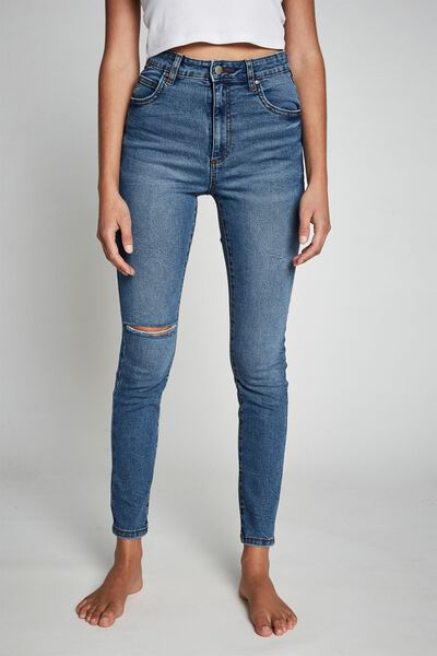 High Rise Skinny Jean, SURFERS BLUE RIP