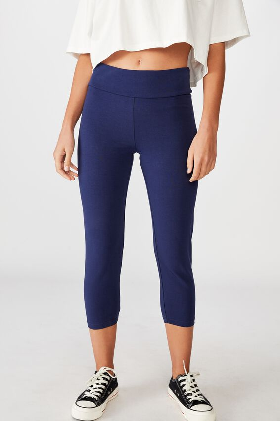 3/4 High Waisted Dylan Legging, MEDIEVAL BLUE