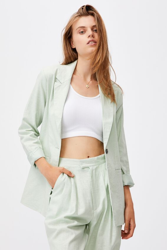 Ultimate Linen Blazer, SPRING MINT