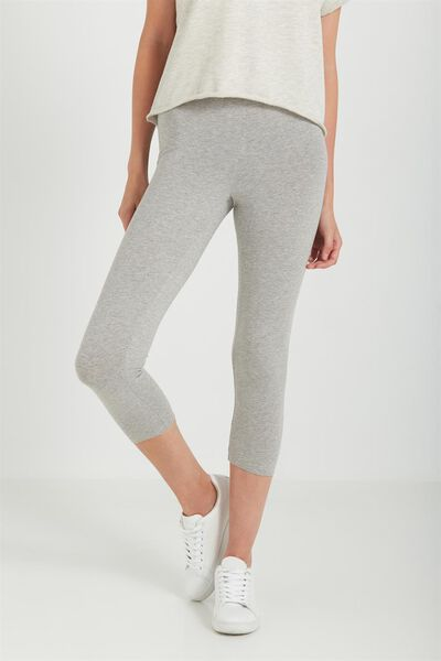 3/4 Dylan Legging, GREY MARLE