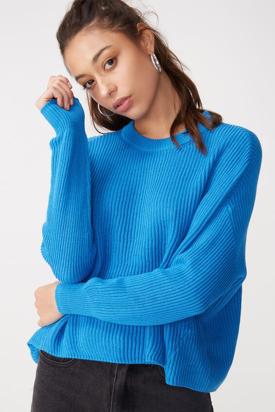 Archy Cropped Pullover, CAMPANULA