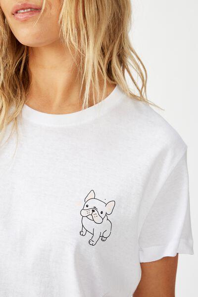 Classic Arts T Shirt, FRENCHIE/WHITE
