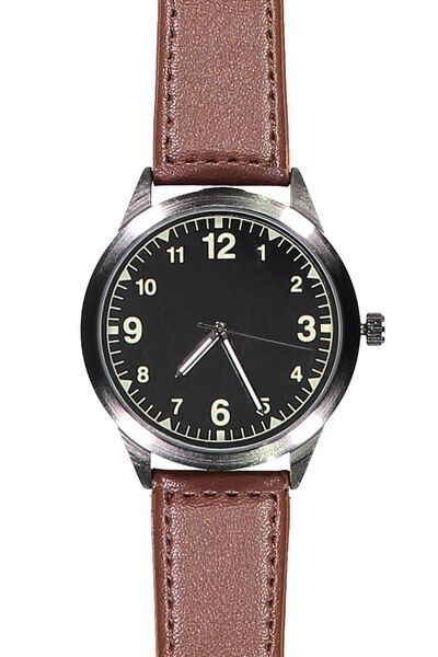 Ascot Watch, BLACK/TAN
