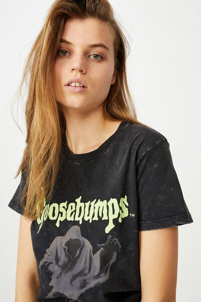 Classic Tv Movie T Shirt, LCN SON GOOSEBUMPS/BLACK