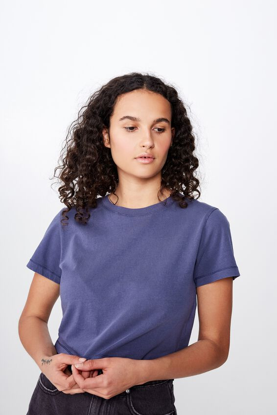 The One Baby Tee, WASHED CROWN BLUE