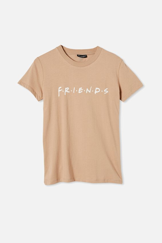 Classic Friends Logo T Shirt, LCN WB FRIENDS LOGO/NATURAL