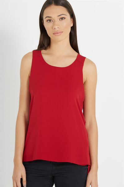 Olivia Tank, RUBY RED