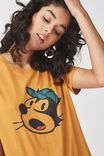 Tbar Fox Graphic T Shirt, LCN FELIX CAP/SPRUCE YELLOW