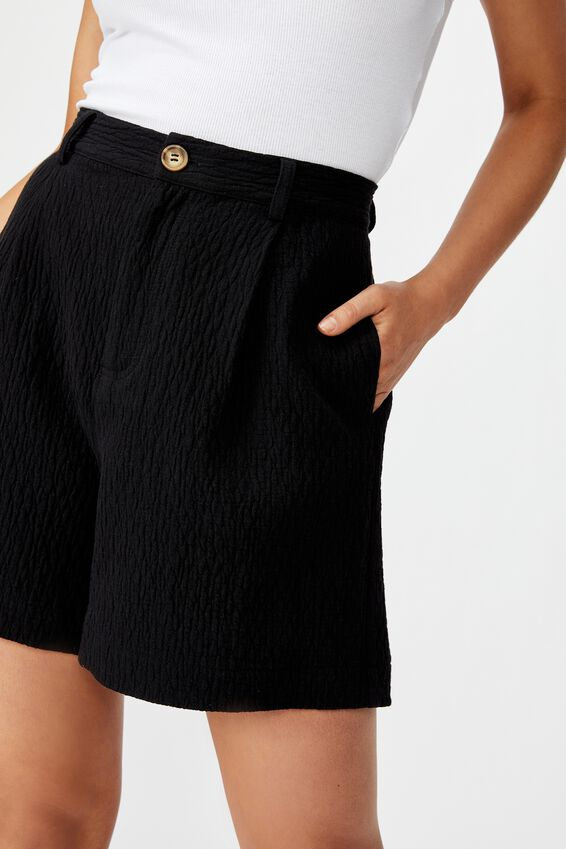 Woven Bermuda Short, BLACK