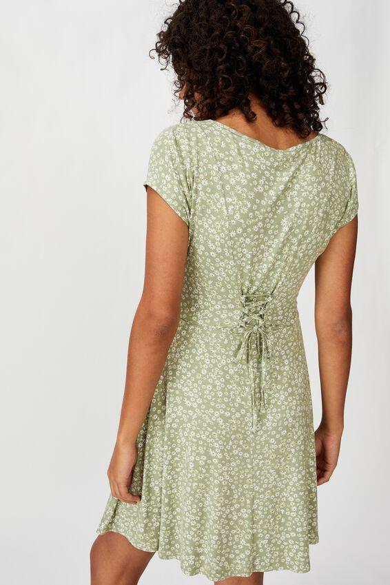 Becky Tie Back Mini Tea Dress, FRANKIE DITSY TEA