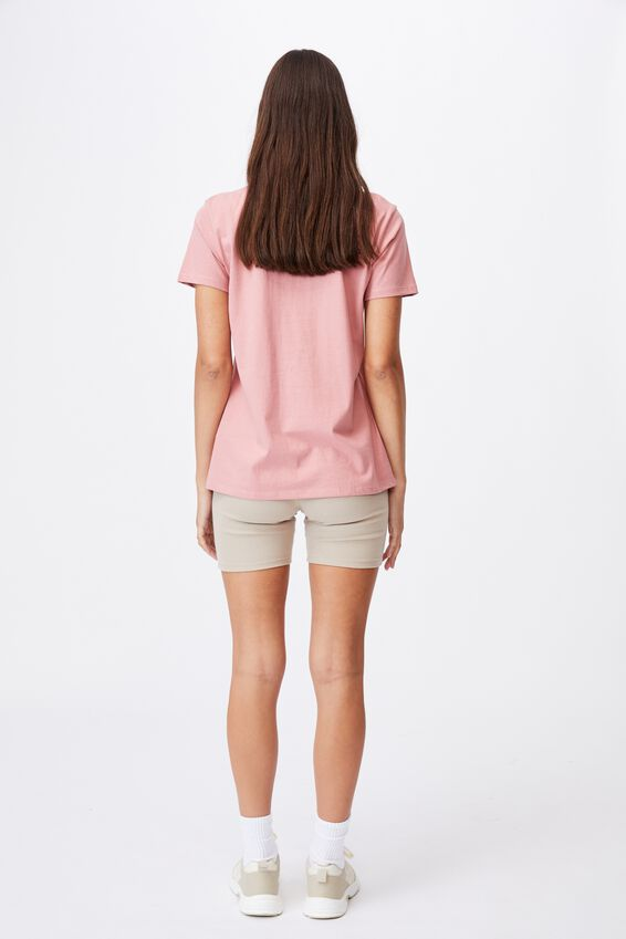 Classic Slogan T Shirt, BE NICE/DARK MAUVE