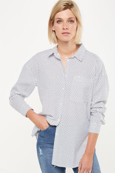 Monique Shirt, KARLA SPOT WHITE
