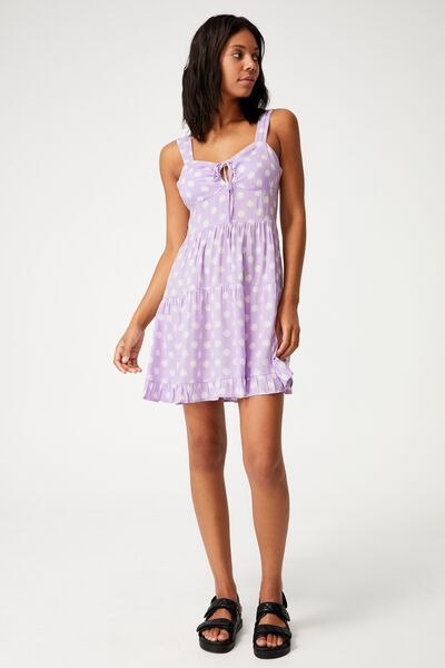 Woven Sandy Skater Dress, JOVANA DITSY SHEER LILAC
