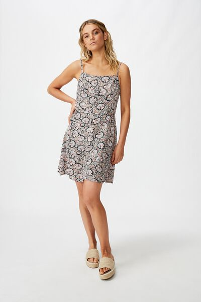 Woven Kendall Mini Dress, JANE PAISLEY TOTAL ECLIPSE