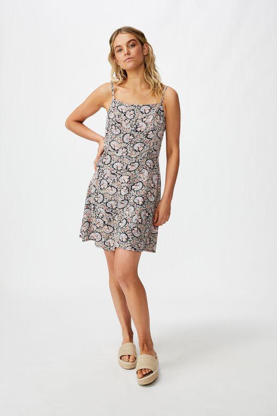 Woven Kendall Mini Dress, JANE PAISLEY TOTAL ECLIPSE