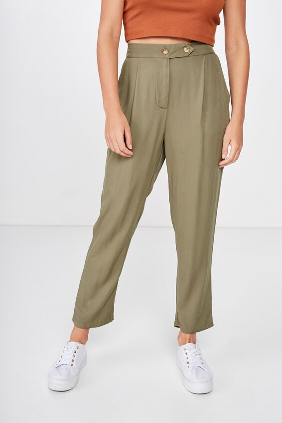 Amy Tapered Pant, WINTER MOSS TEXTURED