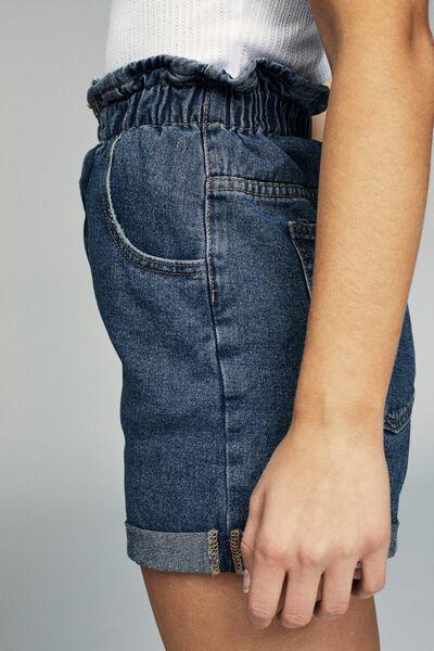 Denim Paperbag Short, BERKLEY BLUE