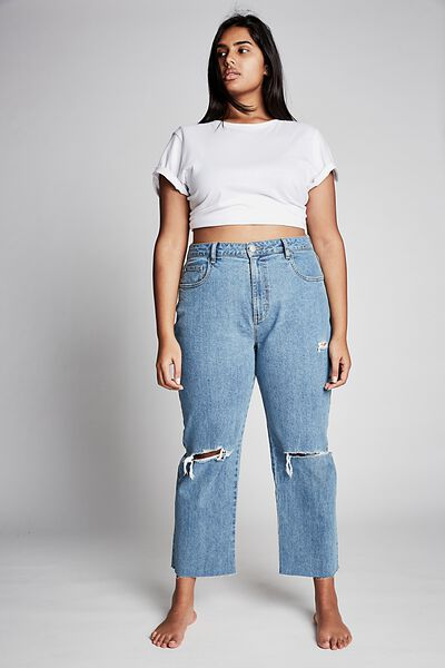Curve Millie Straight Leg Jean, BRONTE BLUE RIPS