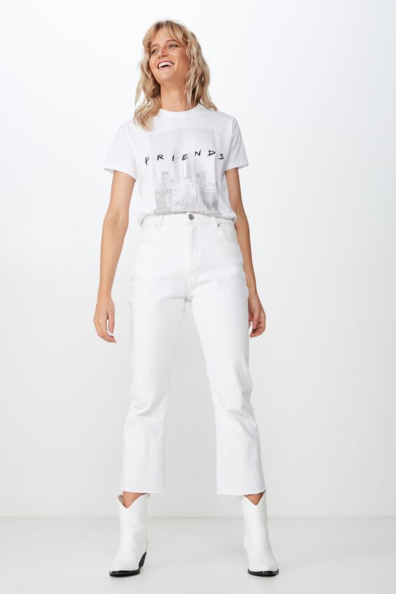 Classic Friends T Shirt, LCN WB FRIENDS NYC/WHITE