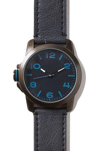 Chromeo Watch, NAVY/PEWTER