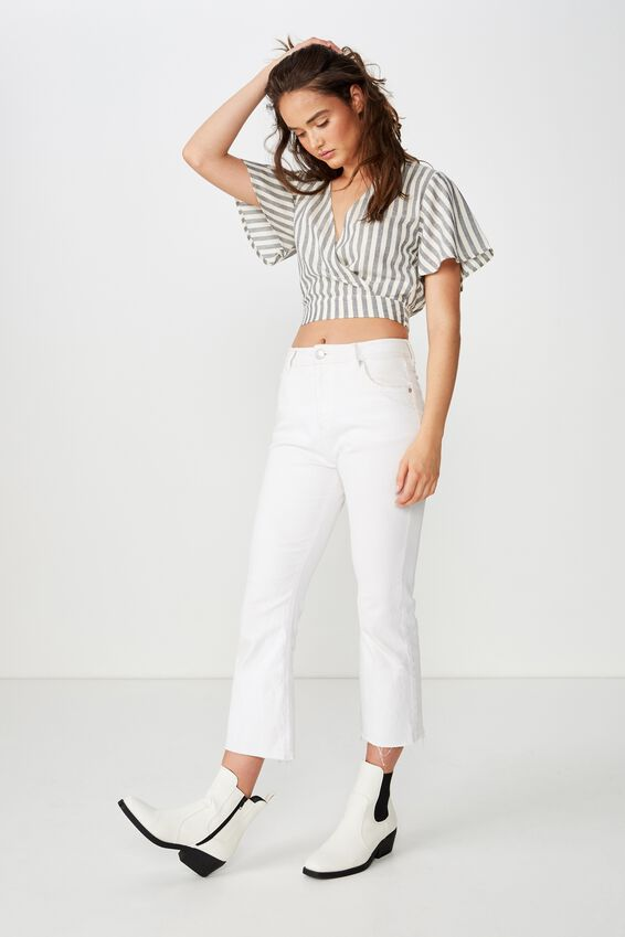 Carmel Wrap Top, CHLOE STRIPE NAVY